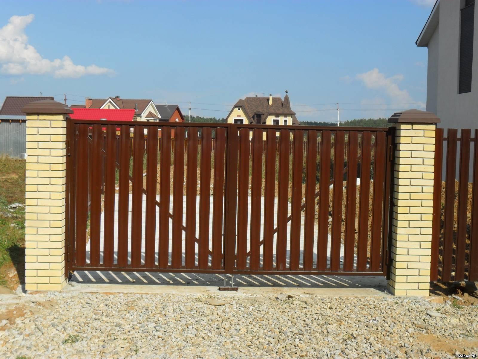Ворота из штакетника фото 4